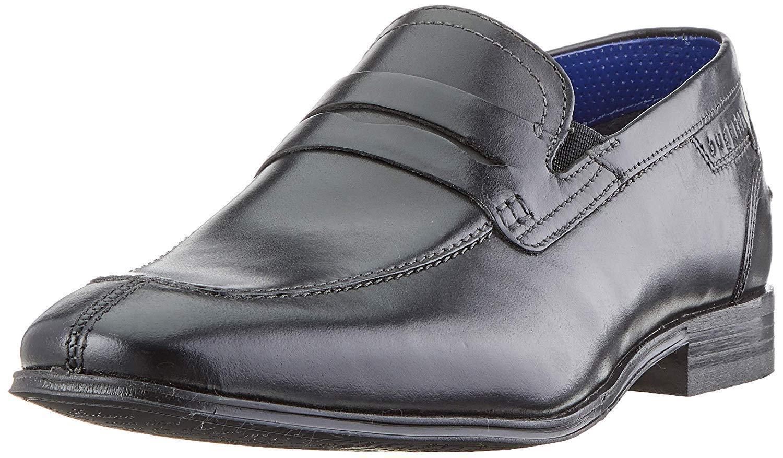 Bugatti Men 311-66660-1000 klassischer klassischer klassischer Slipper Hochzeit Schuhe Leder Schwarz 84a1ab