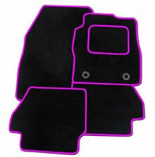 VAUXHALL CORSA D 2006+ TAILORED CAR FLOOR MATS BLACK CARPET WITH PINK TRIM