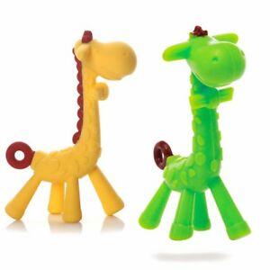 6898e0cfbf1 Details about Baby Teething Natural Silicone Pacifier Giraffe Teether Toys  for Babies Infants