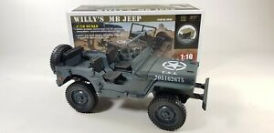 UK-Willys-Military-Jeep-Truck-Model-Off-Road-RC-Car-1-10-Mini-Buggy-4WD-USA-ARMY
