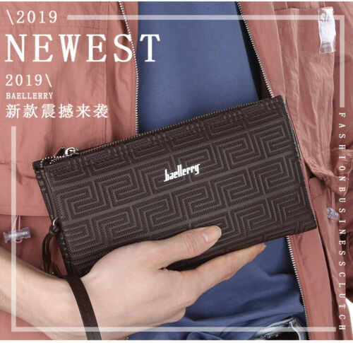 Image 51 - Large Capacity Mens Leather Wallet Long Zipper Clutch Purse Card Holder Handbag