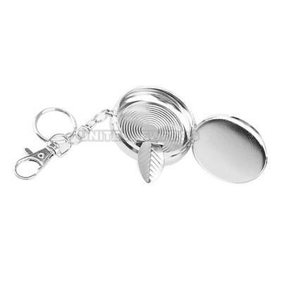 UN3 Useful Portable Pocket Stainless Steel Round Cigarette Ashtray With Keychain