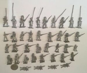 39-WATERLOO-napoleonico-metal-toy-soldiers-MINIFIGS-Hinchcliffe-British-francese