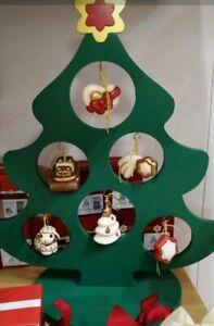 Addobbi Natalizi Thun.Meraviglioso Alberello Di Natale Thun In Legno Con Sei Addobbi Natalizi Nuovo Ebay
