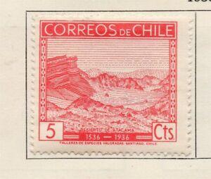 100% De Qualité Chili 1934-36 Early Question Fine Comme Neuf Charnière 5 C. 234741-afficher Le Titre D'origine