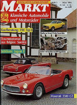 Automobilia Oldtimer Markt 1991 3/91 Daag Maserati 3500 Gt Toyota Celica Vw Typ 3 E-type Um Jeden Preis