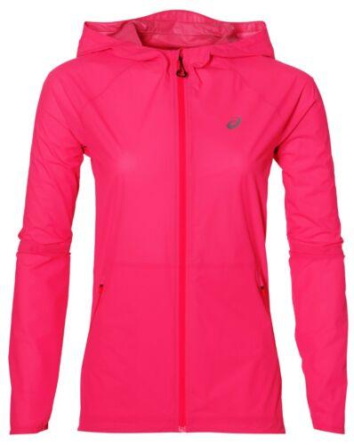 Asics Women/'s Waterproof Jacket Pink New