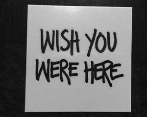 Details About Wish You Were Here Temporary Tattoos Pink Floyd 842c