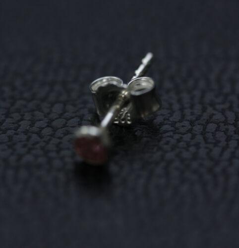 Aretes pendientes cáliz real 925 Sterling plata rosa turquesa 3 mm circonita