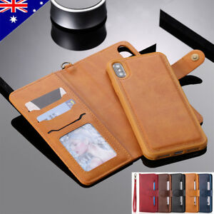 For-iPhone-Xs-Max-Xr-X-8-7-Plus-Luxury-Detachable-Leather-Flip-Wallet-Case-Cover