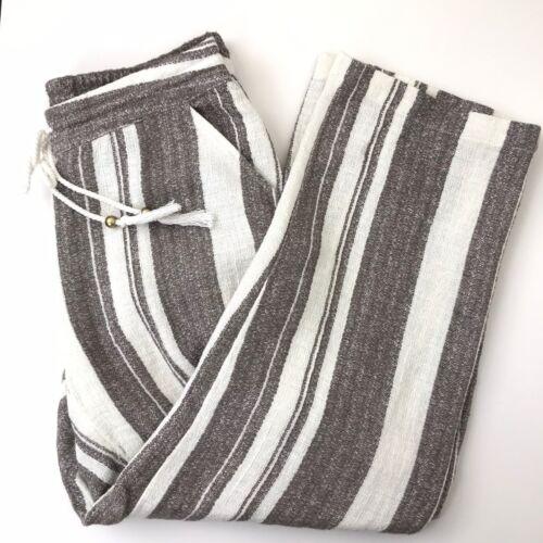 Soft Surroundings Petite XS Cream Taupe Striped Ba