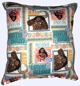 Moana-Pillow-New-Disney-MOANA-amp-Maui-Movie-Design-Pillow-Handmade-In-USA