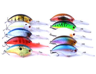 10pcs Lot Crankbaits 9cm//12g Minnow Fishing Lures Hook Tackle Hard Bait Wobbler