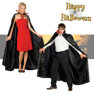HALLOWEEN CAPE DELUXE VELVET VAMPIRE DRACULA CAPE FANCY DRESS COSTUME PARTY