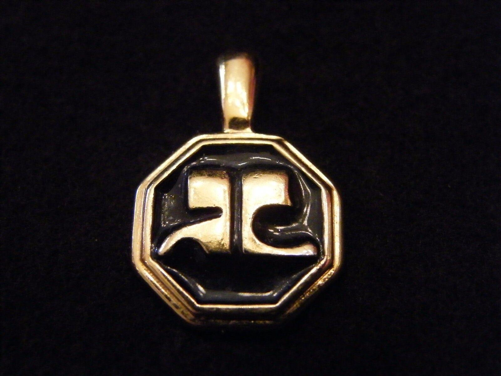 Pendant metal golden Courrèges 3326