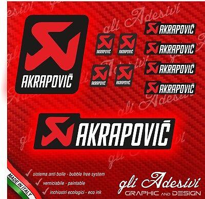 Kit 10 Adesivi Akrapovic YAMA white resistente al calore