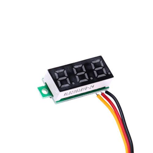3-Wire mini DC 0-100V voltmeter LED panel 3-digital display voltage metZJ》TLW