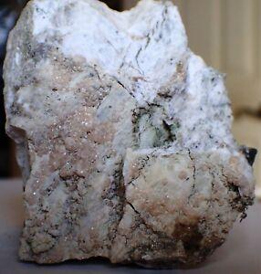 SUPERB-FINE-PINK-GROSSULAR-Fine-Mineral-Crystal-Specimen-Black-Lake-Quebec