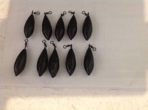 Carp Pack of 10 x 3 oz distance  Swivel leads Coarse Fishing