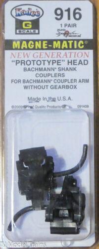 Kadee #916 (G Scale) Prototype Head Bachmann Shank Couplers (No Gearbox)