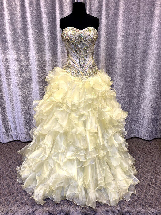 Yellow Prom/Quinceanera dress (size 6)