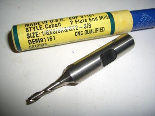 GREENFIELD DOALL 1//8 HSS Cobalt 2 Flutes Slot Drill End Mill endmill USA