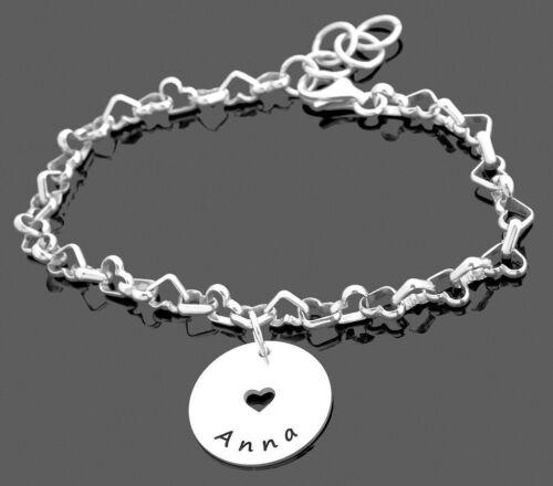 Armband mit Namen Herz Armband Silberarmband mit Gravur