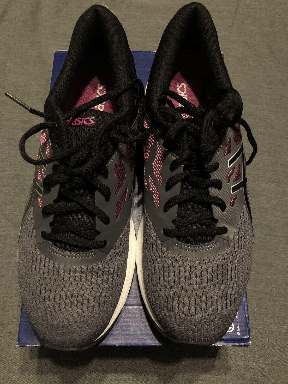 Para Mujer Mujer Mujer Asics Gel-Flux 5 gris Negro Fucsia Con Cordones Zapatos Atléticos Talla 10.5 Nuevo En Caja  increíbles descuentos