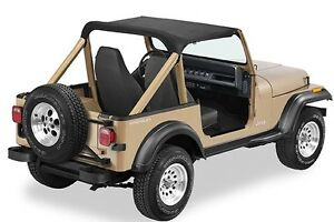 Jeep Bimini Top >> Details About 1987 1991 Jeep Wrangler Bimini Bikini Top In Black Denim 90815