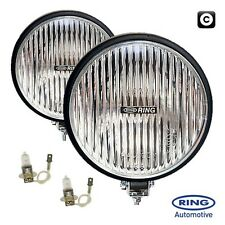 Ring 12v Car 4x4 Van Round Fog Halogen Spot Fog Driving Lamps Lights - Pair