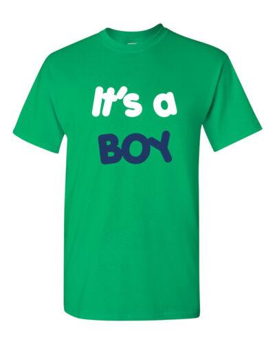 Mens It/'s a Boy Shirt Gender Reveal Birthday Baby Shower Pregnancy Announcement