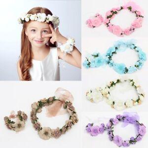 Wedding-Bride-Girl-Lace-Flower-Crown-Garland-Headband-Hand-Flower-Wreath-Set-Hot