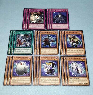 YUGIOH GHOSTRICK DECK 40 CARDS PLUS 3 XYZ NEAR MINT