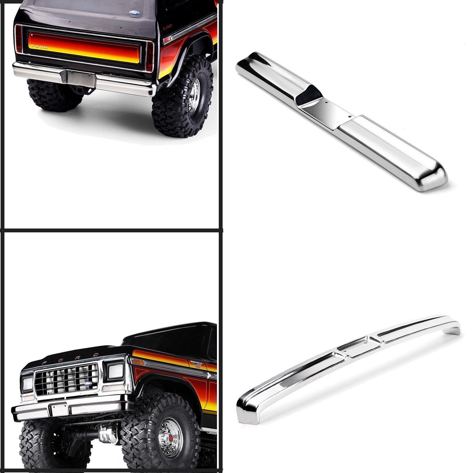 In  acciaio inox davanti e rear BUMPER GUARD PLATE per TRAXXAS trx-4 Bronco  forma unica