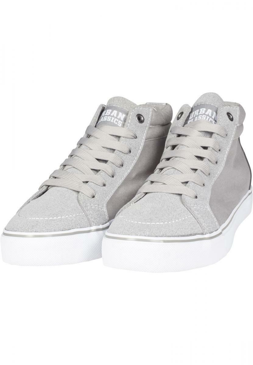 URBAN CLASSICS Men's shoes woman Sneakers High Canvas Sneaker Grey