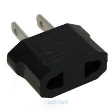 New Black EU Euro Europe to US USA Power Jack Wall Plug Converter Travel Adapter
