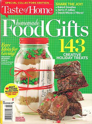 NEW! Taste of Home HOMEMADE FOOD GIFTS Winter 2013 143 Recipe Brownies Jams Bake