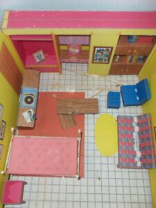 Vintage Original 1962 Barbie Fold Out Cardboard DREAM HOUSE by Mattel