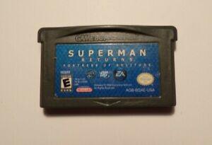 Nintendo Gameboy Advance SUPERMAN RETURNS No Manual - No Box - Tested