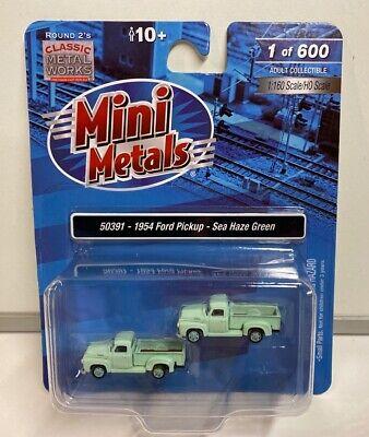 Classic Metal Works Mini Metals 1954 Ford F-350 Green Pickup Truck