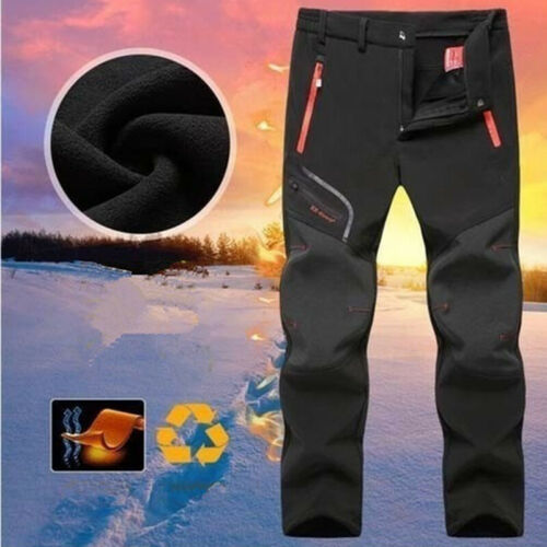 Men Winter Pants Waterproof Outdoor Camping Hiking Skiing Thicken Trousers Warm