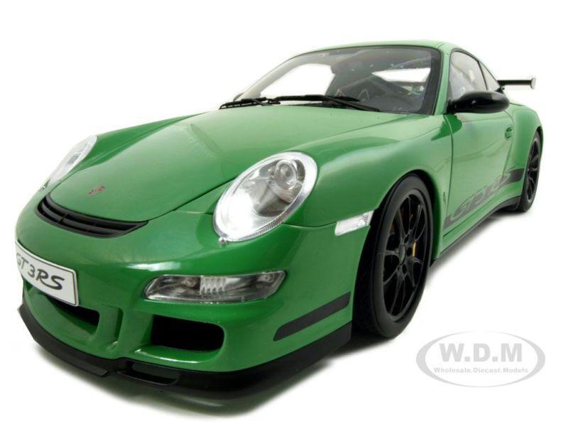 Porsche 911 (997) GT3 Rs Rs Rs green 1 12 Modellino Auto da Autoart 12118 355
