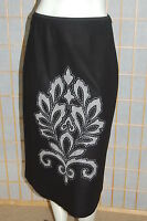 The Limited Recycled Wool Blend Black Aplique Front Spandex At Waist Skirt8