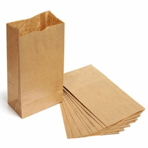 100PCS Candy Party Gift Wedding Food Buffet Paper Bag Kraft Brown Wrap Cookies