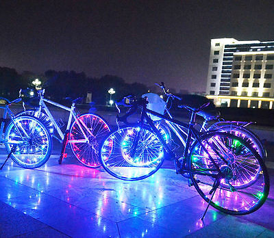 Bicycle Bike 20 LED Rim Lights LED Wheel Spoke Light Cycling String Strip Lamp