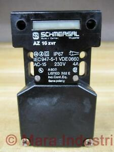 NEW SCHMERSAL AZ 16 ZVR SAFETY INTERLOCK SWITCH AC-15 230V 4A IEC947-5-1 VDE0660