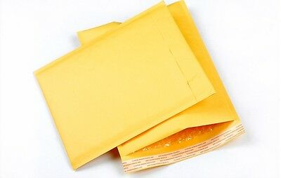 """500 #000 4x8 Kraft Paper Bubble Padded Mailers Envelopes Case Supplies 4""""x8"""""""