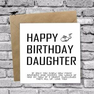Image Is Loading FUNNY DAUGHTER SON BIRTHDAY CARD RUDE 16TH 18TH