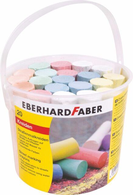 EBERHARD FABER Straßenmalkreide, 20er Kunststoffeimer (57526512)