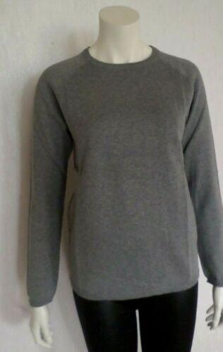 H/&M Damen Pullover Pulli langer Arm Feinstrick Baumwolle Grau  Gr.M  NEU  OVP